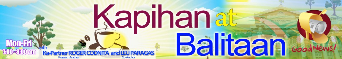 Kapihan at Balitaan (Mon-Fri: 7:00-8:00am)
