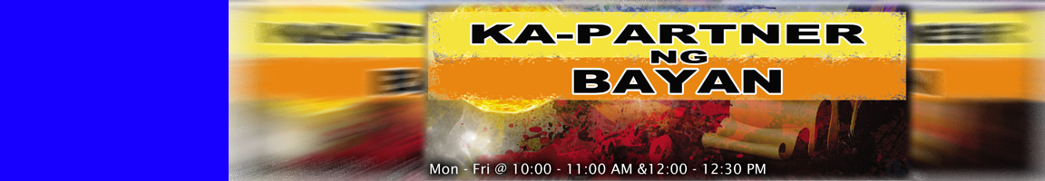 Kapartner ng Bayan (Mon-Fri: 10:00-11:00am)